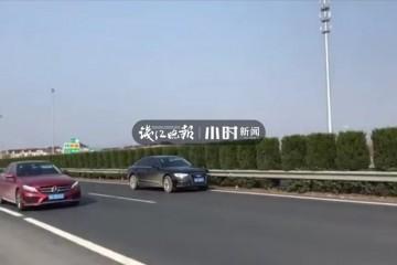 为了接电话65岁司机把车停在高速超车道上